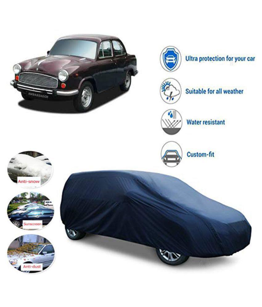 QualityBeast Car Body Cover for  Hindustan Motors Ambassador Blue