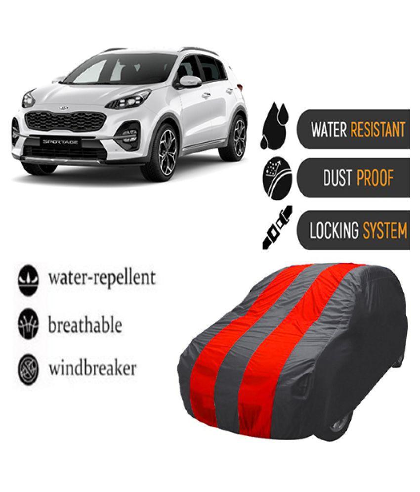 QualityBeast Car Body Cover for  Kia Sportage 2019 Mahroon Grey