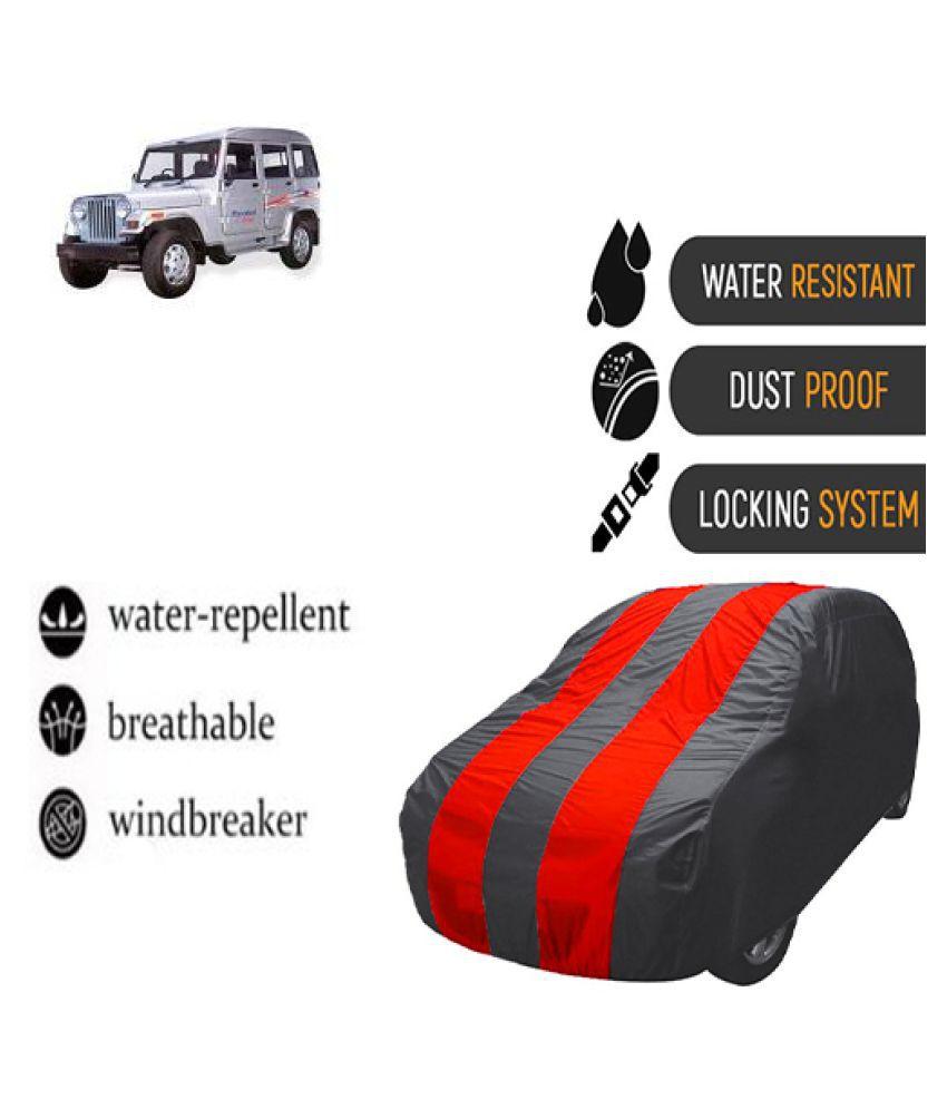 QualityBeast Car Body Cover for  Mahindra Marshal Mahroon Grey