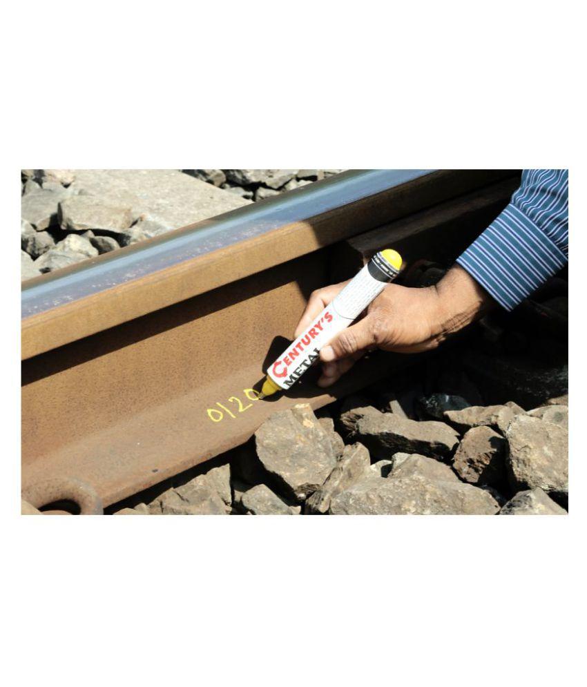Century 2MM Yellow Permanent Metal Marker Pump Type