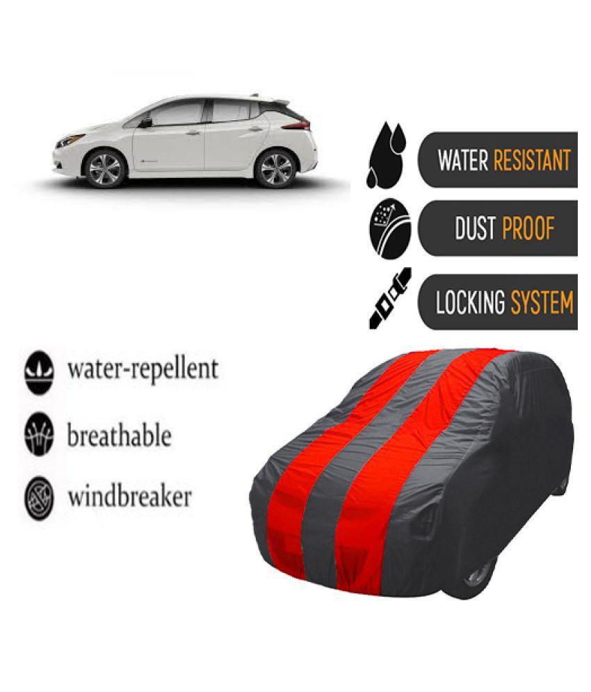 QualityBeast Car Body Cover for  Nissan Leaf Mahroon Grey