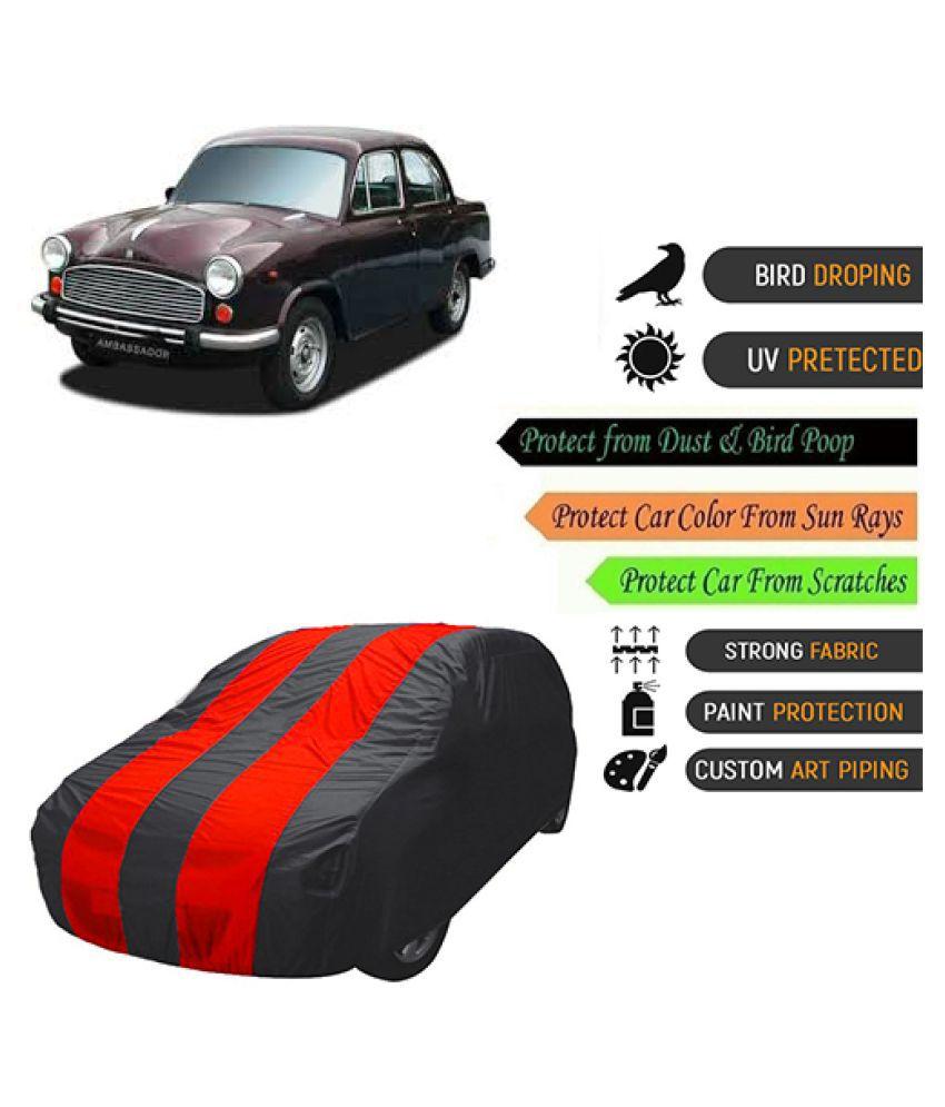 QualityBeast Car Body Cover for  Hindustan Motors Ambassador Mahroon Black