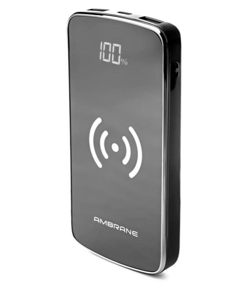 Ambrane PW_11 Wireless 10000 -mAh Li-Polymer Power Bank Black