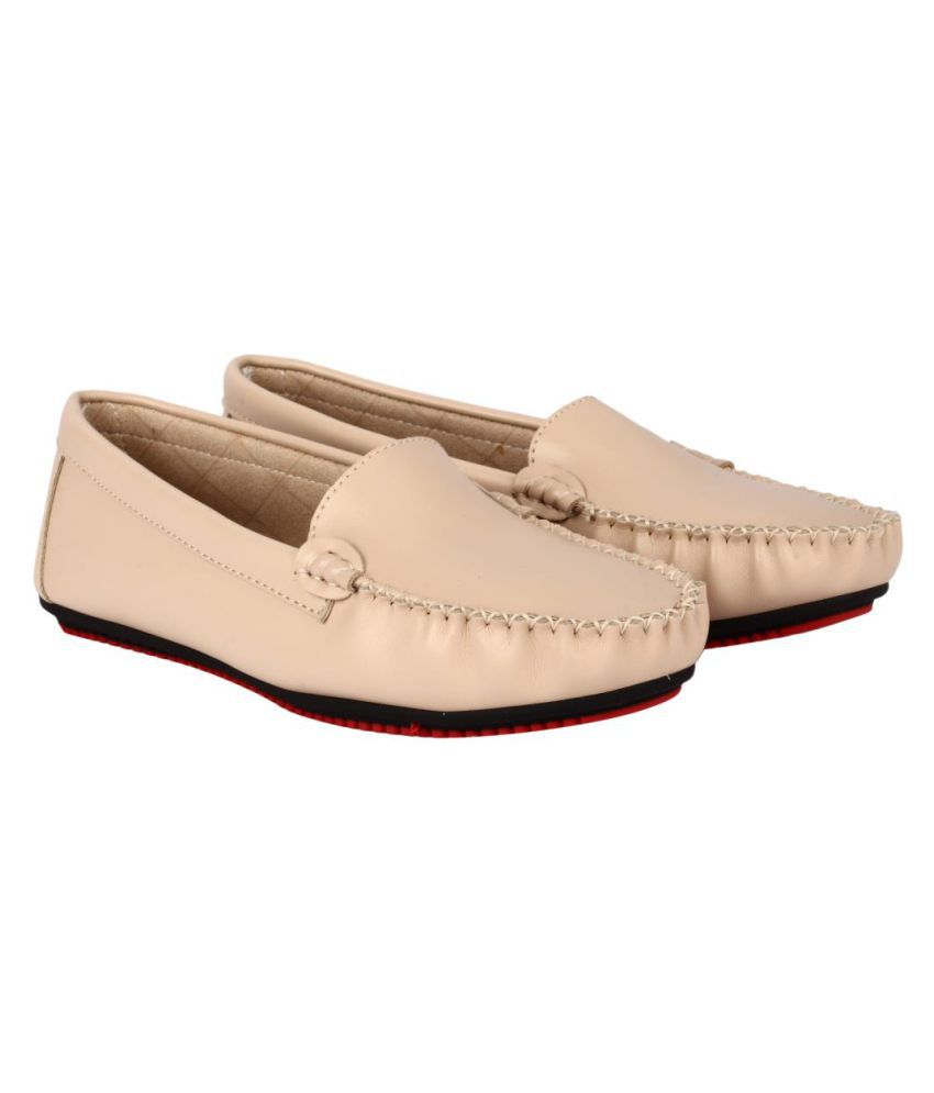 Flat N Heels Beige Casual Shoes