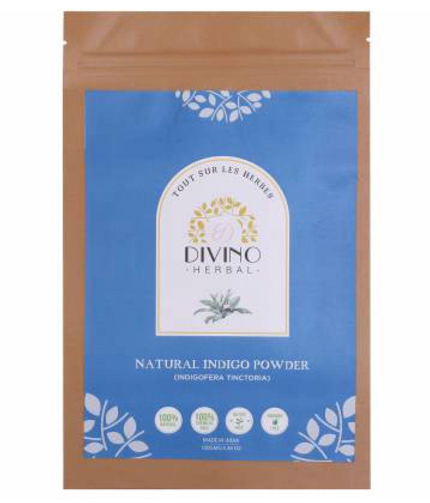 Divino Natural Black Indigo Leaf Powder Temporary Hair Color Black 100 g
