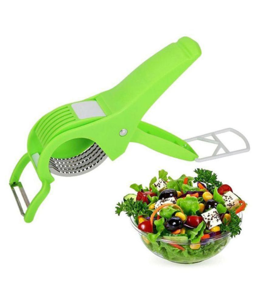 Extra Sharp Stainless Steel Multi Cutter and Peeler Plastic Vegetable Cutter with Peeler for Vegetable and Fruit