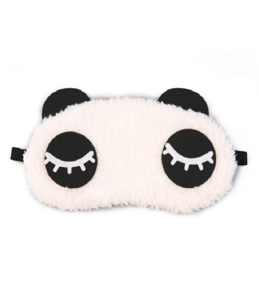Awestuffs Long Sleeping Plush White Eye Mask