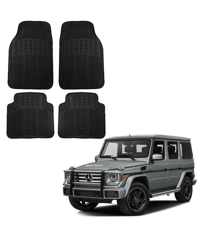 Auto Addict Car Simple Rubber Black Mats Set of 4Pcs For Mercedes Benz G-Class