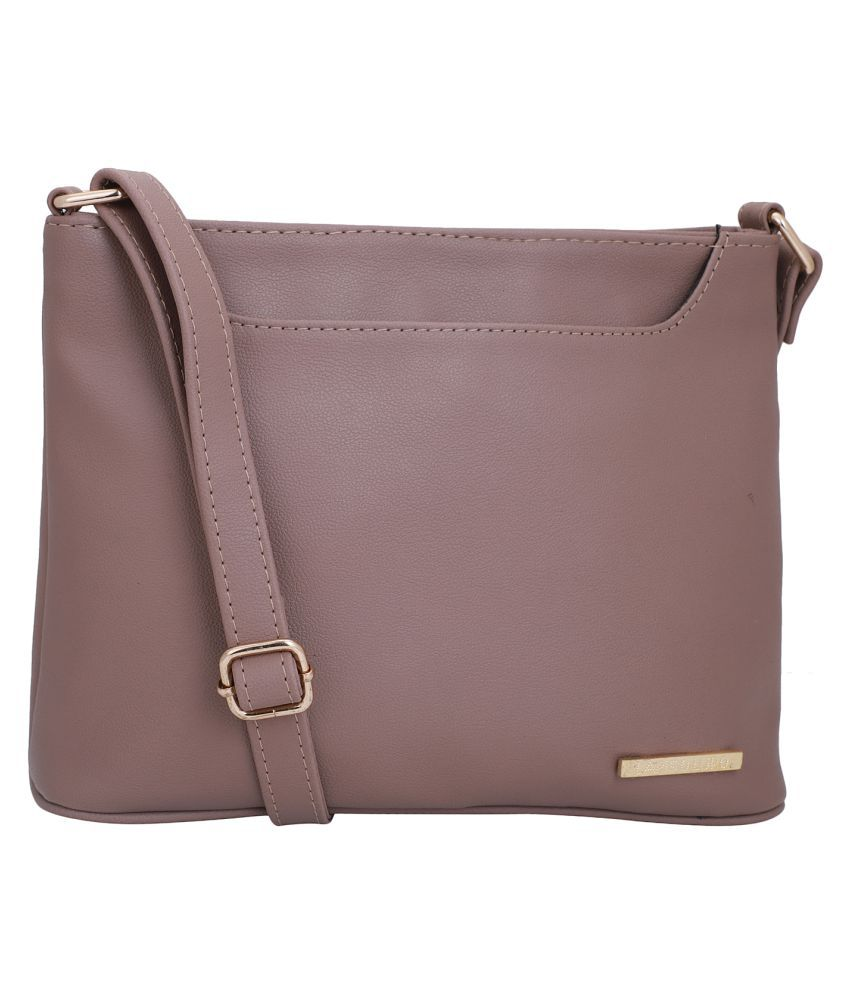 Lapis O Lupo Peach Puff Synthetic Casual Messenger Bag