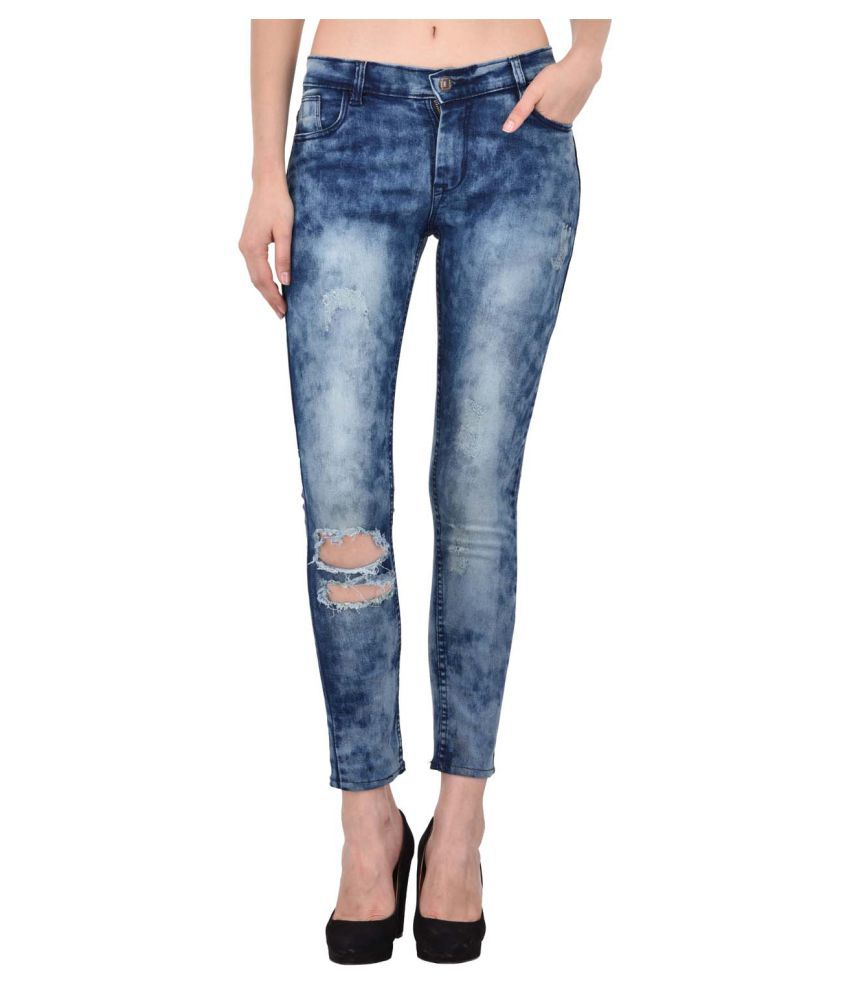 Ansh Fashion Wear Denim Lycra Jeans - Blue