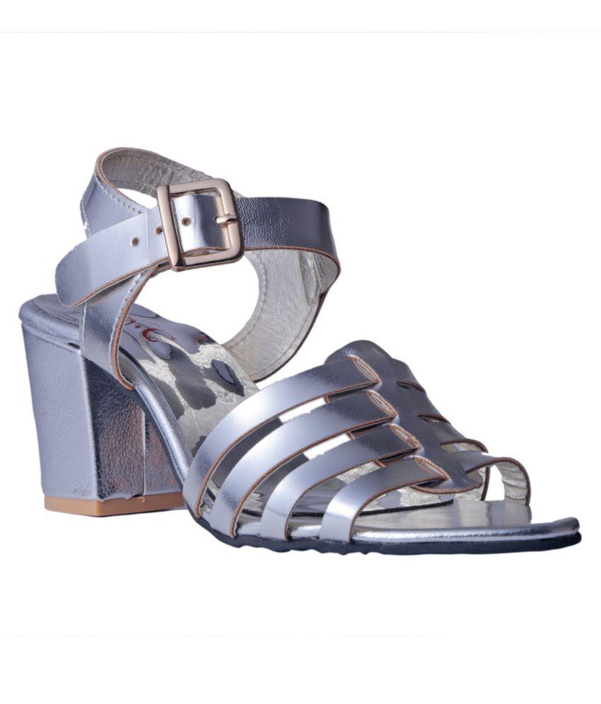 MSC Silver Block Heels