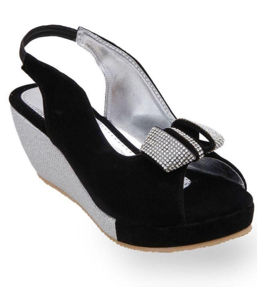 Catbird Black Wedges Heels