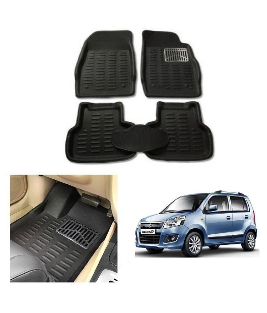Neeb Traders Car Carpet Black Car Floor/Foot Mats for Maruti Suzuki wagonr 2014-2018 10-13