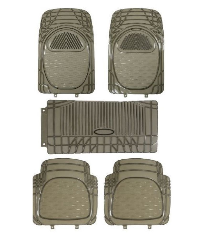Autofetch Car Floor/Foot Mats (Set of 5) Smoke for Hyundai Eon