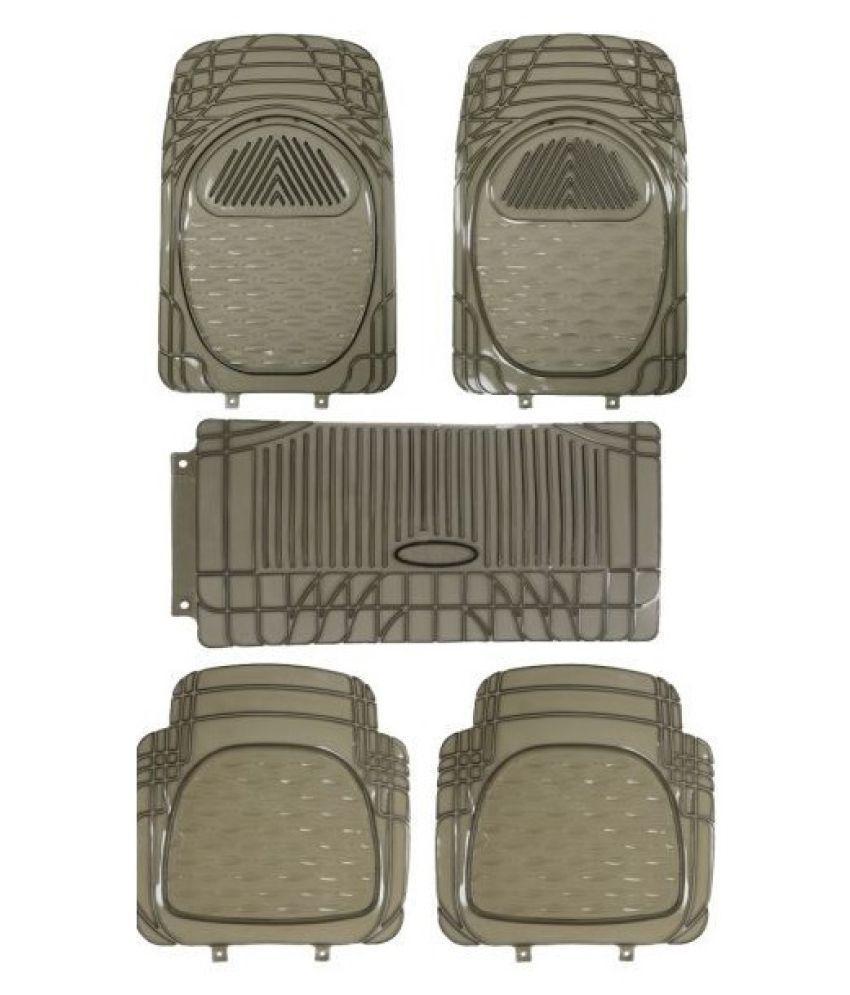Autofetch Car Floor/Foot Mats (Set of 5) Smoke for Maruti Eco