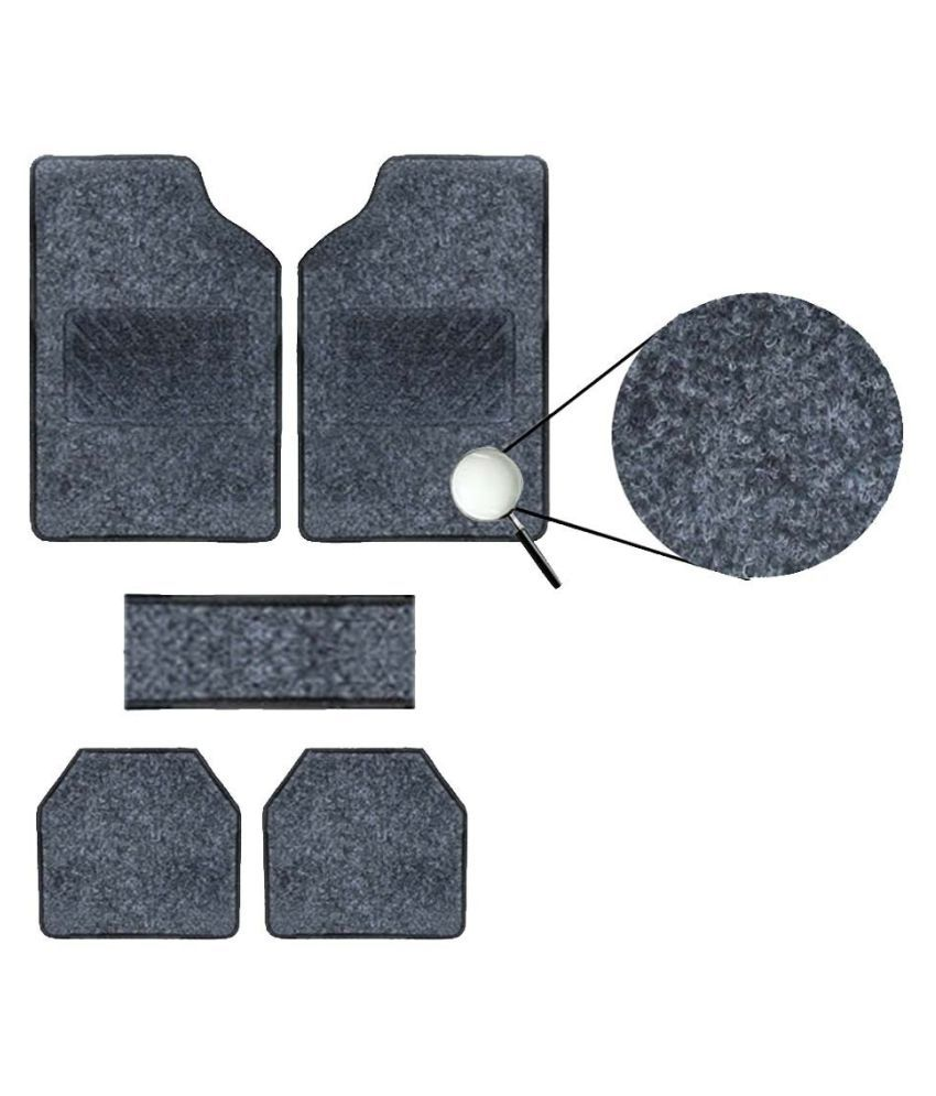 Autofetch Carpet Car Floor/Foot Mats (Set of 5) Black for Maruti Swift New