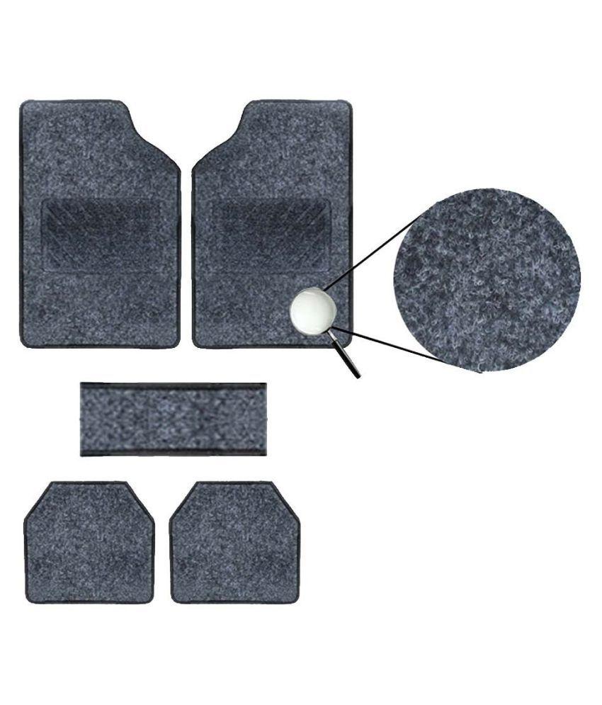 Autofetch Carpet Car Floor/Foot Mats (Set of 5) Black for Maruti New Baleno