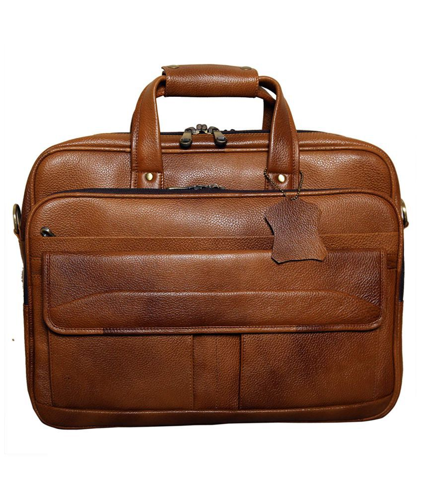C Comfort Brown Office Messenger Bag