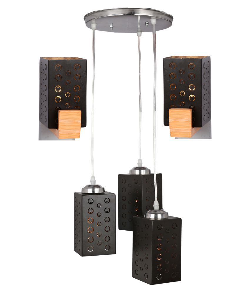 Somil Wood Exclusive Pendant Black - Pack of 3