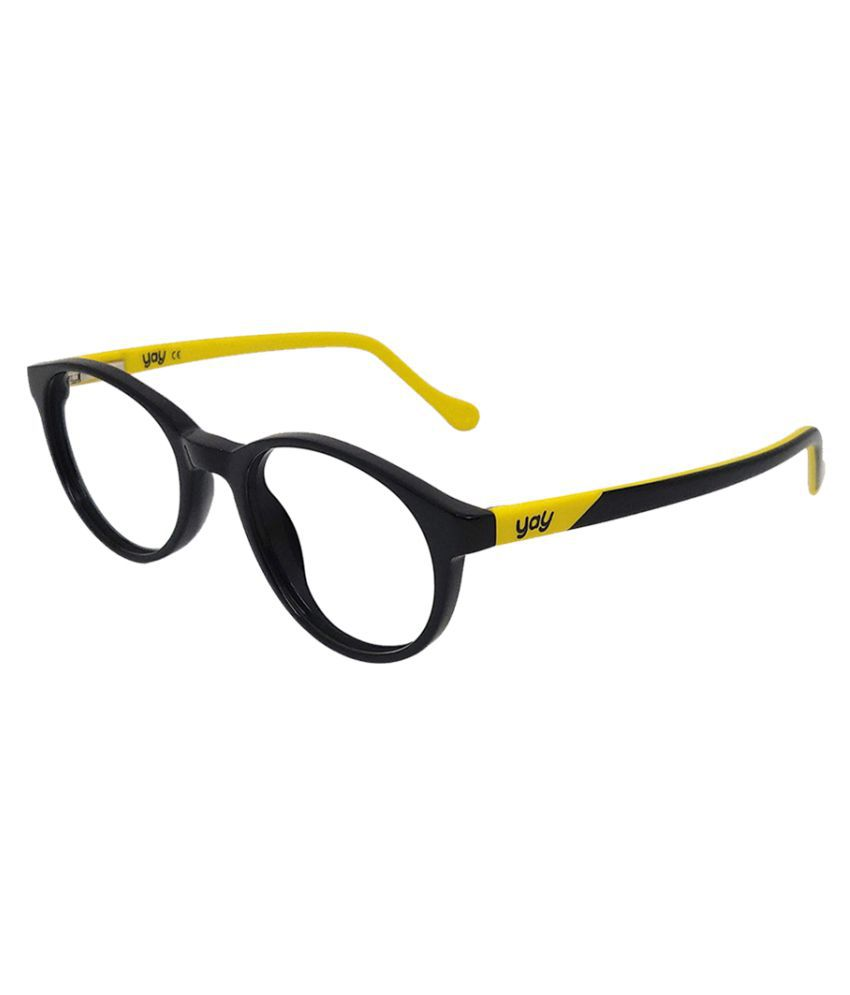 YAY Tigger Round Acetate Black Color Kids Spectacle Frame by-Enrico