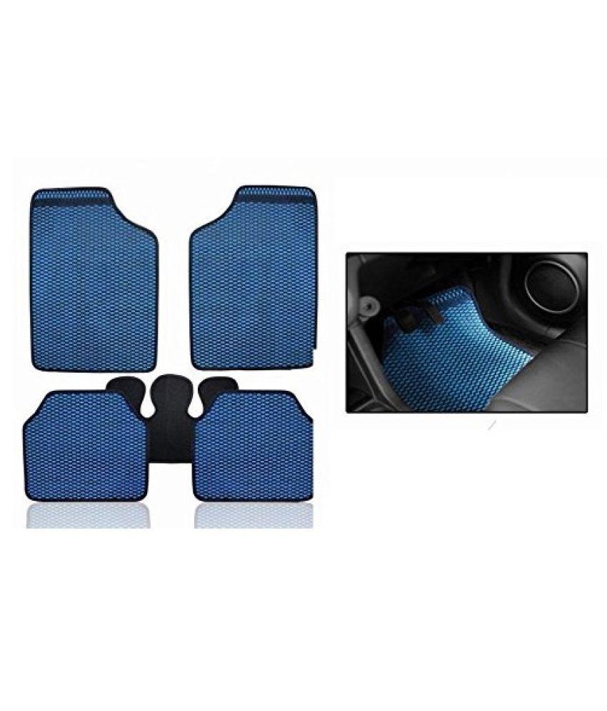 Autofetch Car Eclipse Odourless Floor/Foot Mats (Set of 5) Blue for Tata Harrier