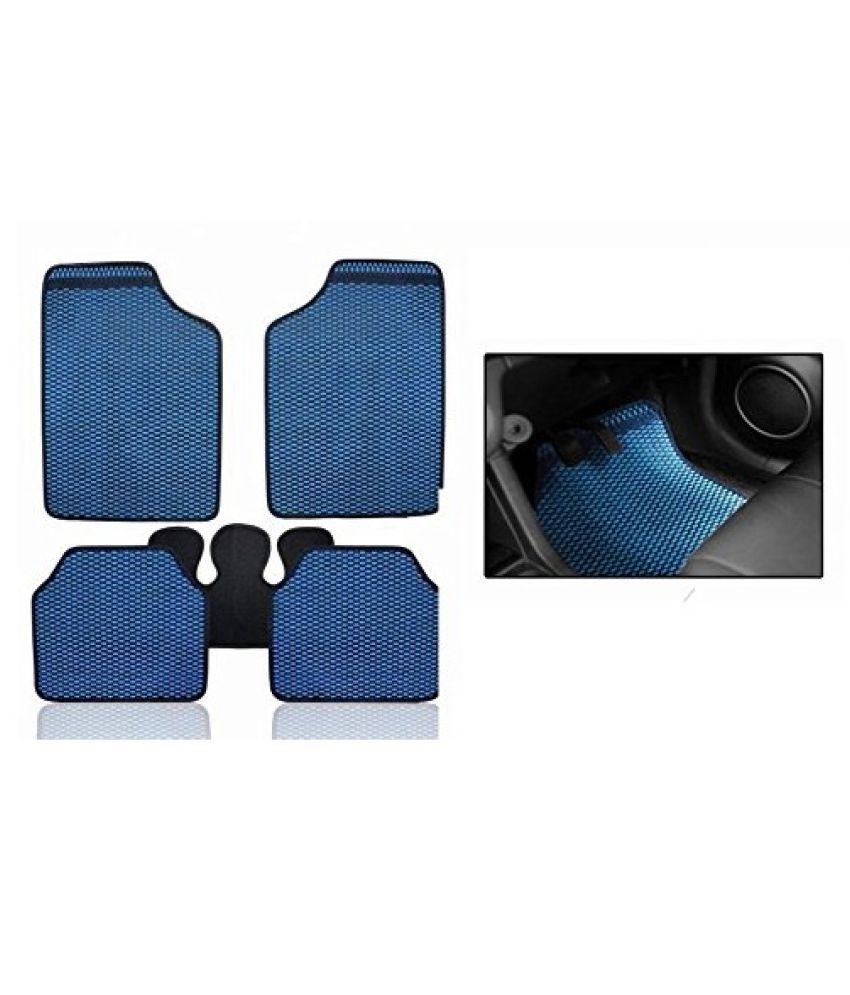 Autofetch Car Eclipse Odourless Floor/Foot Mats (Set of 5) Blue for Tata Manza