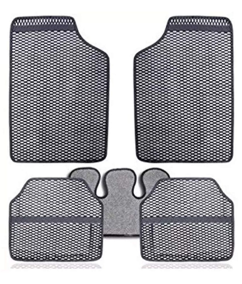 Autofetch Car Eclipse Odourless Floor/Foot Mats (Set of 5) Grey for Universal for all Car