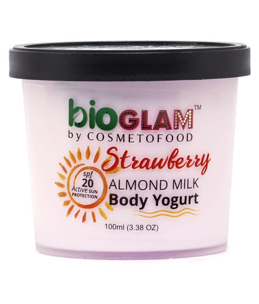 Cosmetofood Bioglam Organic Strawberry Body Yogurt Moisturizer 100 ml