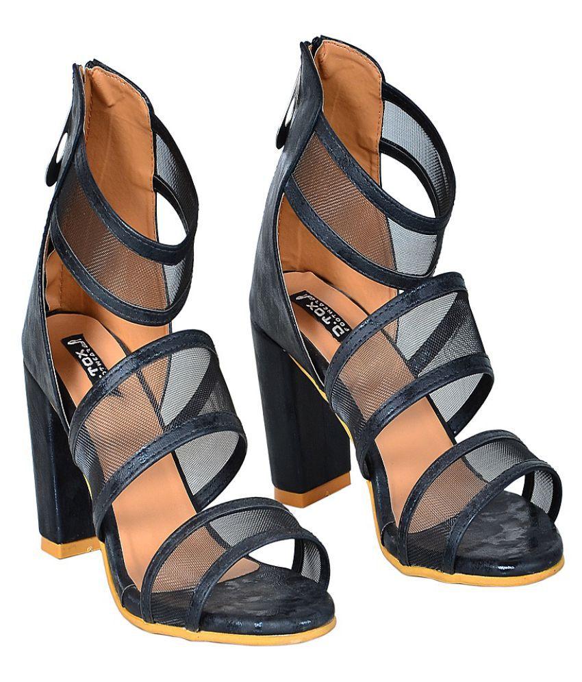 D.tox Footwear Black Wedges Heels