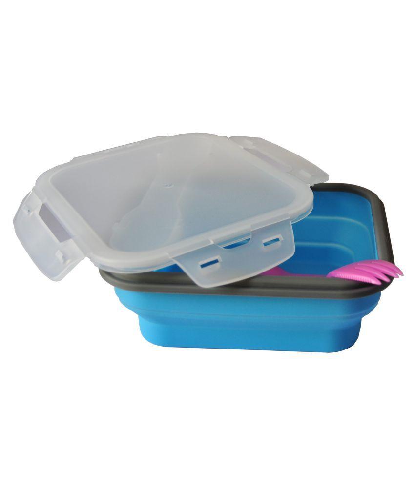 SiliO Blue Silicone Lunch Box