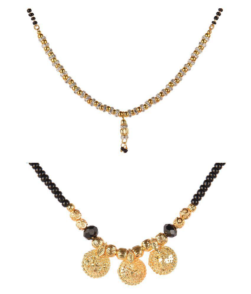 Combo - myGaonwala Gold Plated Designer Mangalsutra