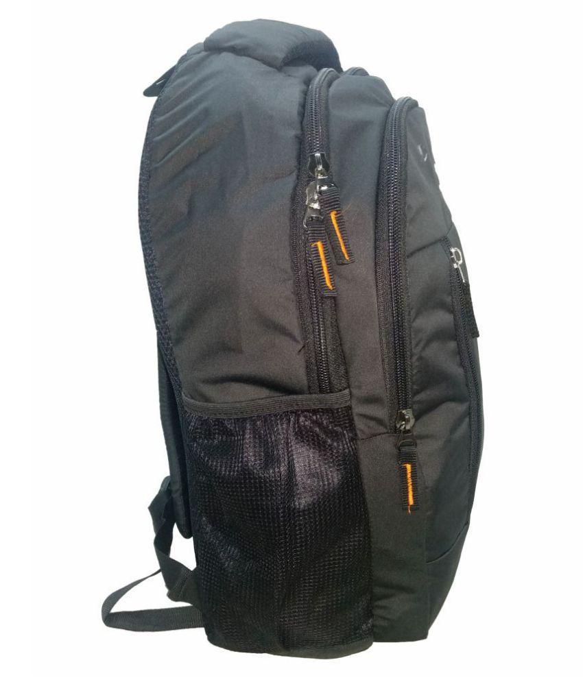 Wildcraft Black Polyester College Bags Backpacks 15 Inch Shoulder Bag For Men Women Laptop School Kids