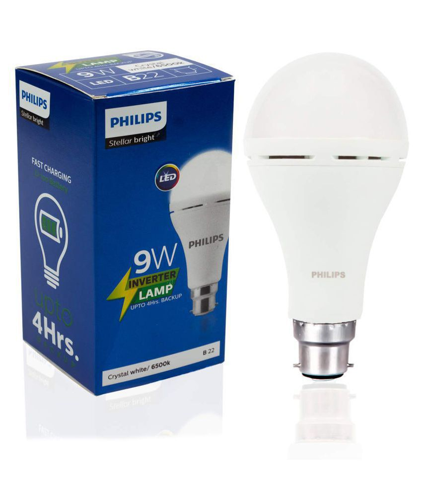 Philips Inverter Bulb 9 Watt Rechargeable Emergency B22 Base Cool Daylight - Pack of 1