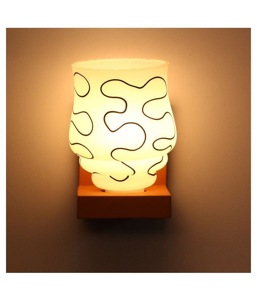 AFAST Designer Wall Chair Night Lamp White - Pack of 1