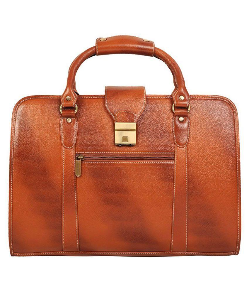 C Comfort Brown Office Messenger Bag