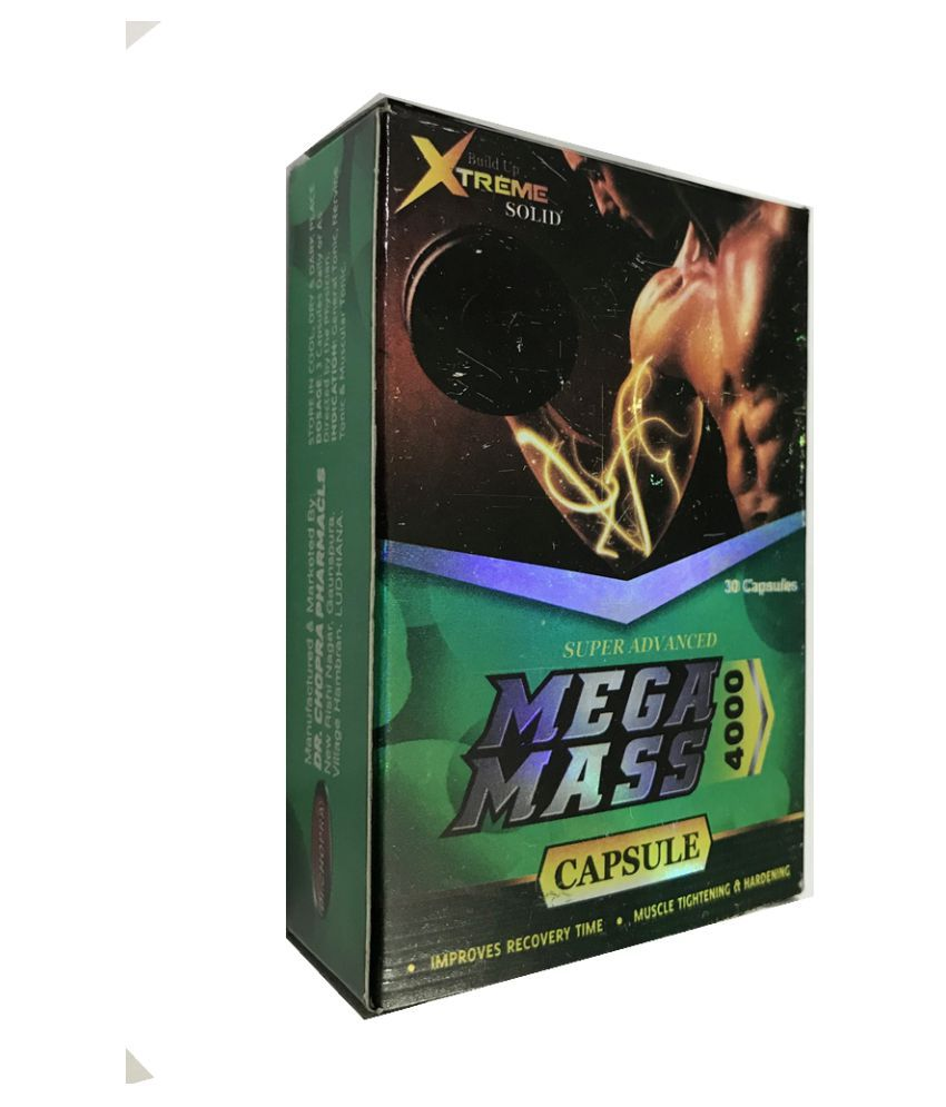 Herbalshoppe Mega Mass 4000 (3x30=90 Caps) Capsule 90 no.s Pack of 3