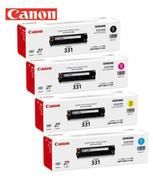 Canon 331 Toner Cartridge CYMK Pack Of 4 For LBP7100Cn, LBP7110Cw, MF8210CN, MF8280Cw