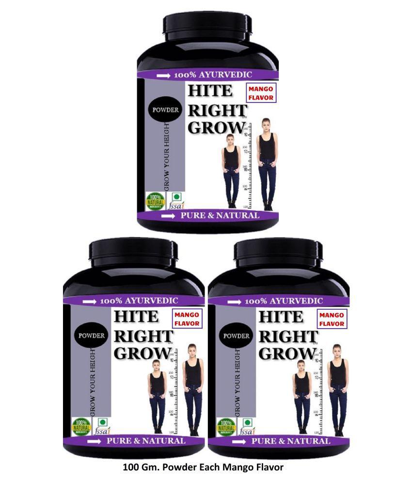 VITARA HEALTHCARE Hite Rite Grow Height Growth Mango Flvor Powder 300 gm Pack of 3