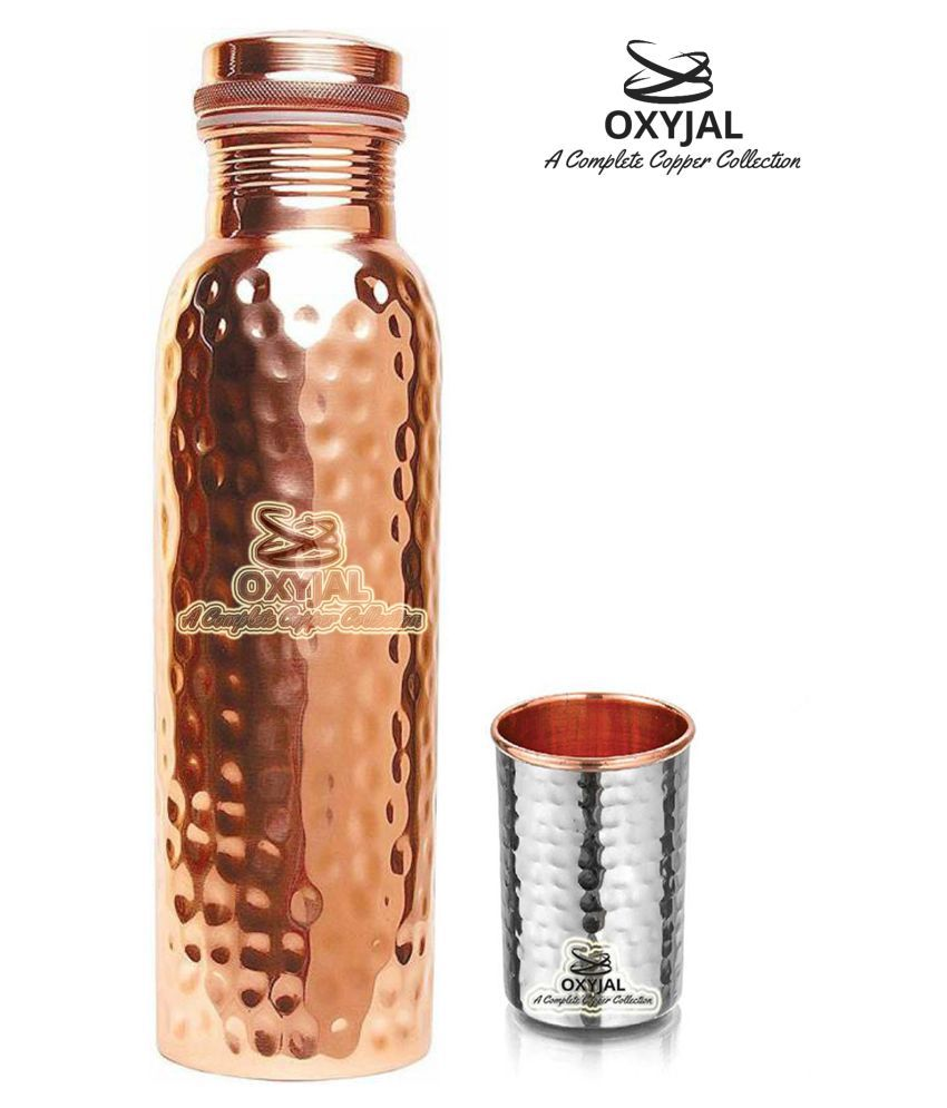 OXYJAL Copper Bottle Gift 2 Pcs Lemon set