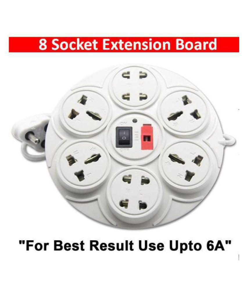 HFK Extension Board cord Surge Protector ( White )