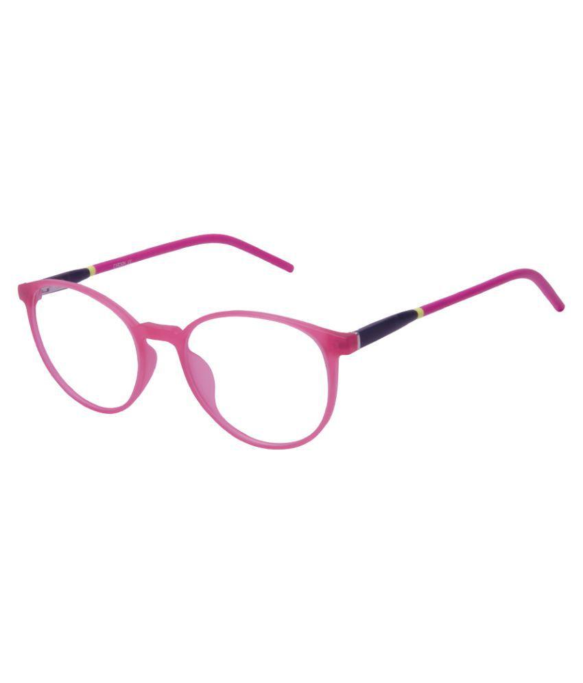 Cardon Matte Pink Round Full Rim EyeFrame for Kids