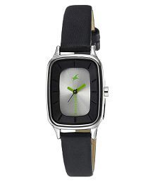 Fastrack Leather Rectangular Womens Watch