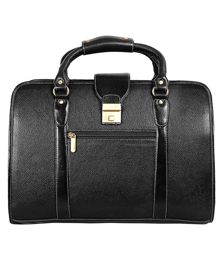 C Comfort Black Casual Messenger Bag