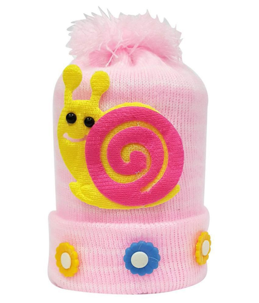 Babeezworld Baby Girl & Boy Winter Woolen Warm Cap (Kids Pack Of 1 )