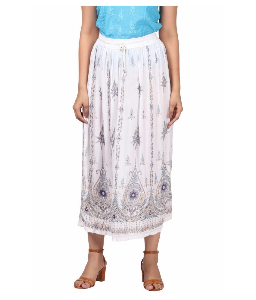 Fit 'N' You Cotton A-Line Skirt - White