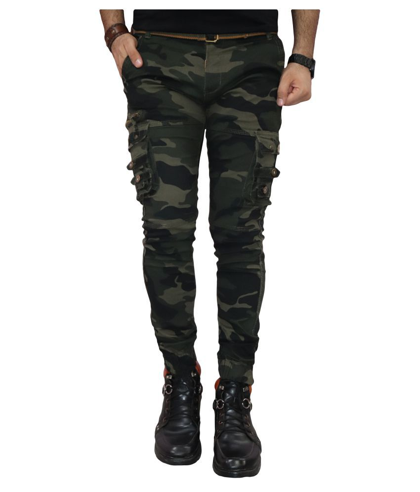 Urban Legends Green Regular -Fit Flat Cargos