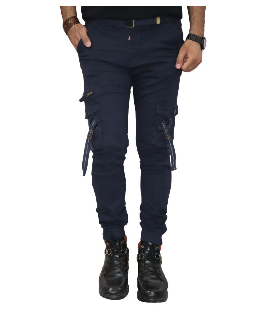 Urban Legends Blue Regular -Fit Flat Cargos