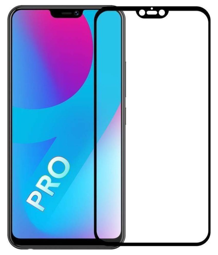 Vivo V9 Pro Tempered Glass Screen Guard By GLAZE UV Protection, Anti Reflection.