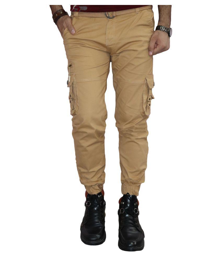 Urban Legends Brown Regular -Fit Flat Trousers