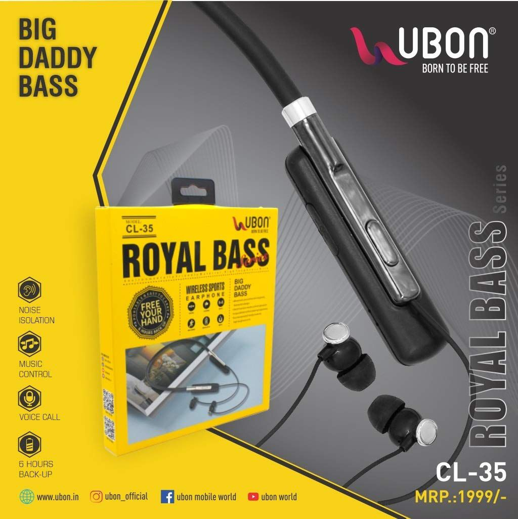 Ubon Cl 35 Neckband Wireless Earphones Bluetooth Headphone With Mic Buy Ubon Cl 35 Neckband Wireless Earphones Bluetooth Headphone With Mic Online At Best Prices In India On Snapdeal
